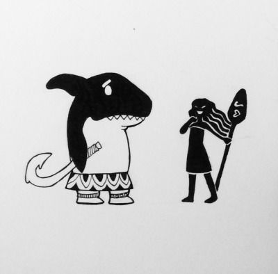 #moana | Tumblr Moana and sharked Maui
