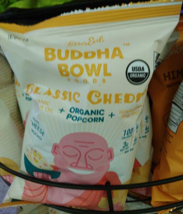 Buddha Bowl Classic Cheddar Organic Popcorn