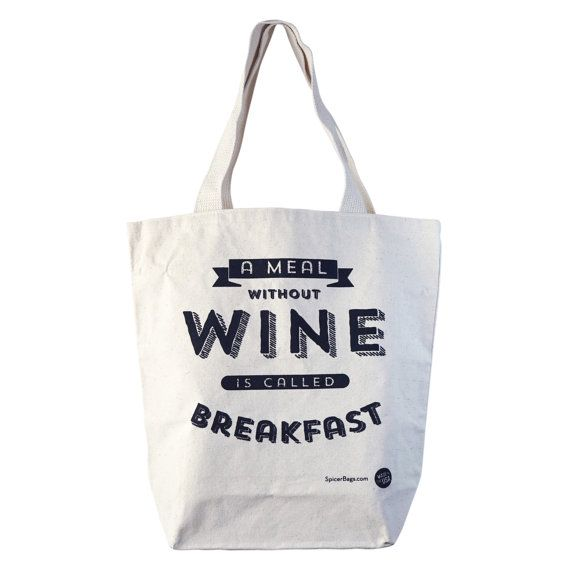 Funny Canvas Tote Bag Large Shopper Tote Reusable by SpicerBags