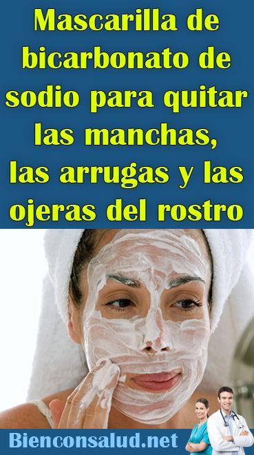Mascarilla de bicarbonato de sodio para quitar las manchas, las arrugas y las ojeras del rostro