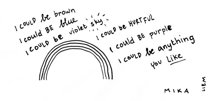 Mika. Grace Kelly. 365 illustrated lyrics project, Brigitte Liem.
