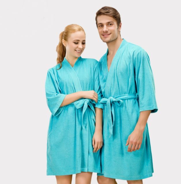 €89.90 PROMO Peignoir de bain couple bleu paradise