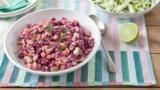 """A side salad to brighten up any barbeque.  Serve alongside the <a href="""" http://www.bbc.co.uk/food/recipes/classic_burgers_58632"""">Biker burger</a> for a real feast."""
