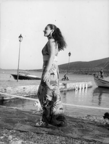 La Divina Maria Callas enjoying the greek summer