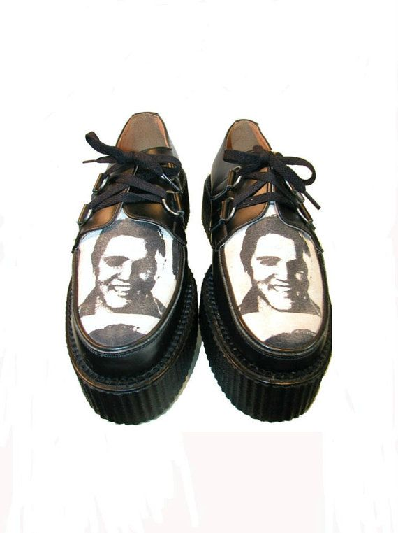 Mens Vintage 1980's ELVIS Mondo Creeper Shoes From England Mens U.S. sz 12 on Etsy, $135.00