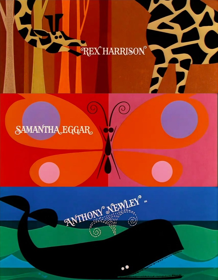 Doctor Dolittle Title Sequence 1967  titles by PACIFIC TITLE  designed by DON RECORD