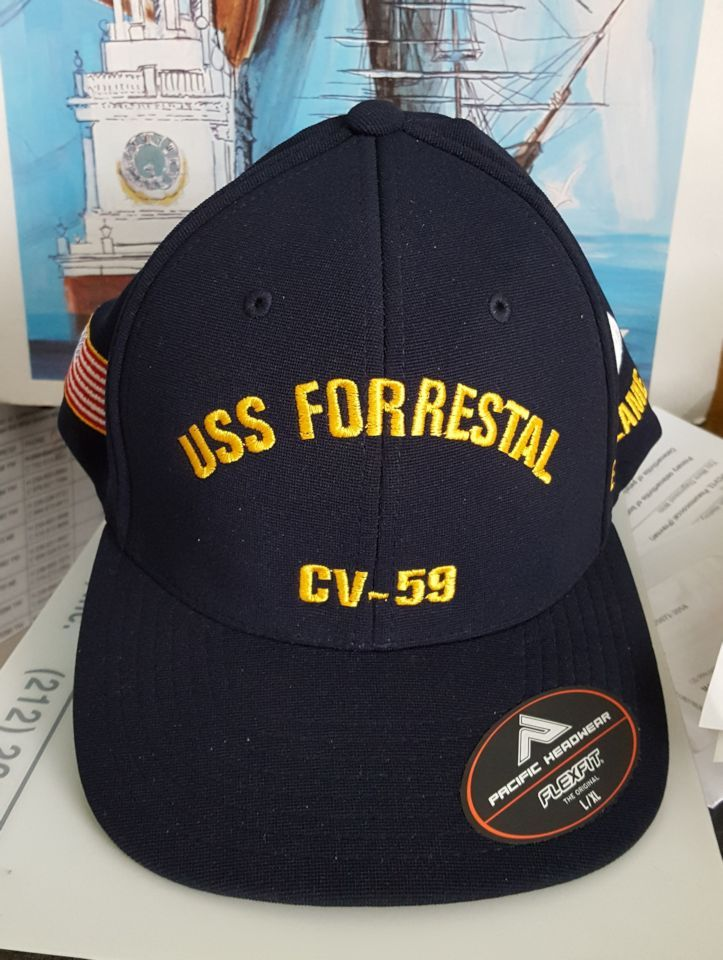 USS FORRESTAL CV-59 FITTED BALL CAP FT  3f179045037