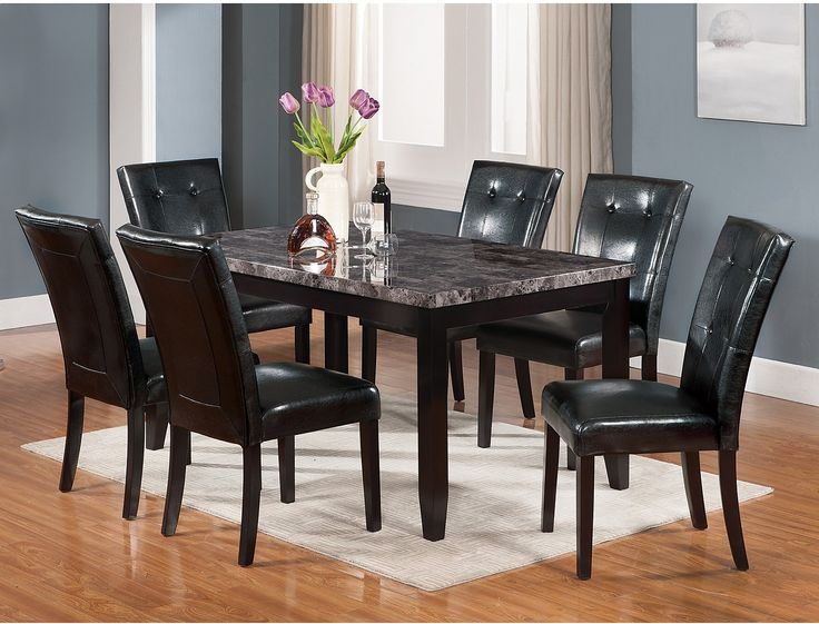 Tahoe 5 Piece Dark Grey Dining Package | The Brick · Dinning Room  TablesDining Room ...