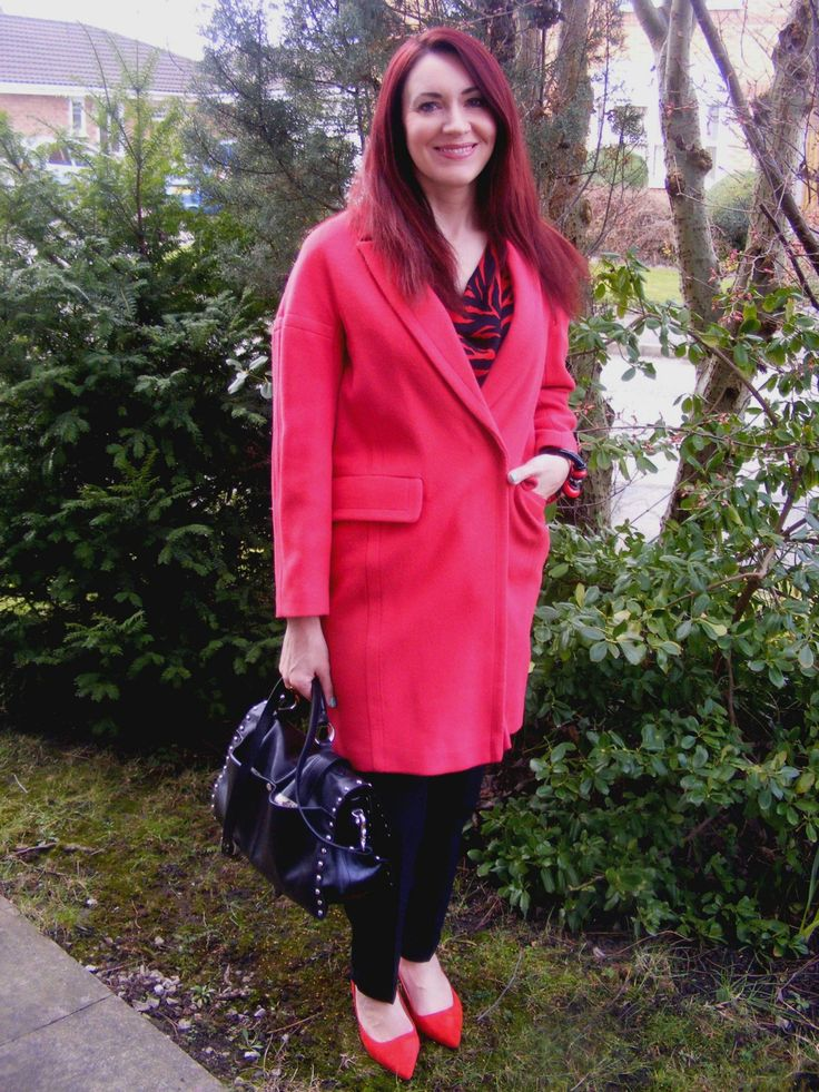 Red and Black | Wallis Coat and Jaeger Silk Blouse