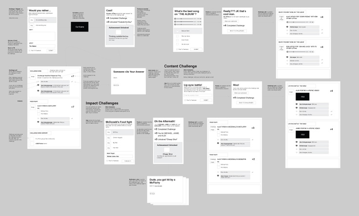 Game Logic UX for an application we are currently building.