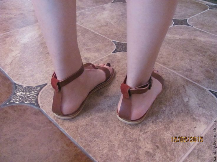 Купить Греческие сандалии №39 - коричневый, сандалии из кожи, летняя обувь, натуральная кожа