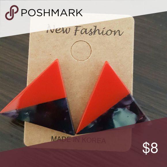 Triangle earrings Cute triangle earrings. Brand new. Jewelry Earrings