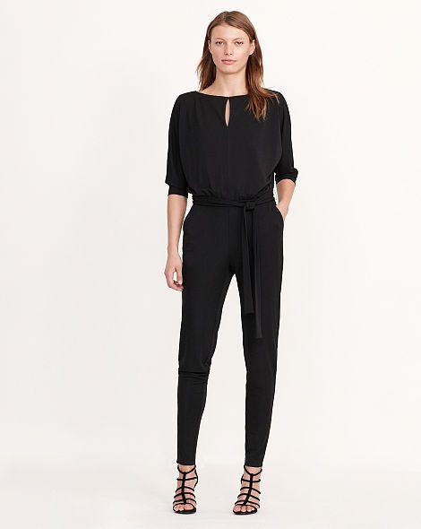 Jersey Keyhole Jumpsuit - Jumpsuits Dresses - Ralph Lauren France