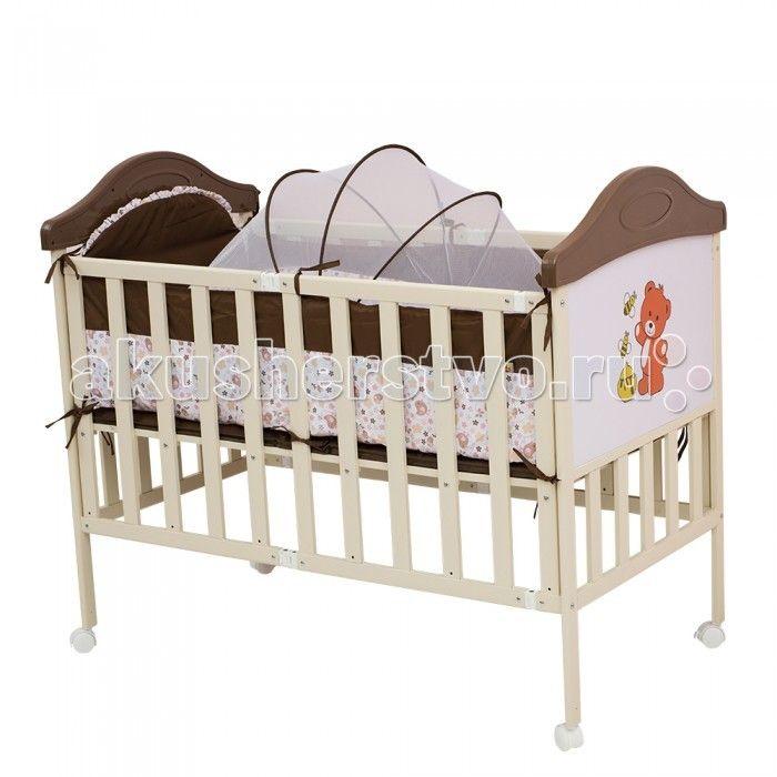 Детская кроватка BabyHit Sleepy Compact  Детская кроватка BabyHit Sleepy Compact  Особенности: Кроватка выполнена «под крашенное дерево» Профиль прямоугольного сечения Размер спального места 120 х 60 см. Компактное складывание «гармошкой» для кратковременного и долговременного хранения 4 колеса со стопорами В комплекте: люлька для новорожденного с москитной сеткой, мягкие бортики, москитная сетка-балдахин