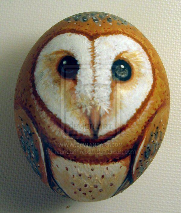 Barn+owl+egg+ornament+by+MandarinMoon.deviantart.com+on+@DeviantArt