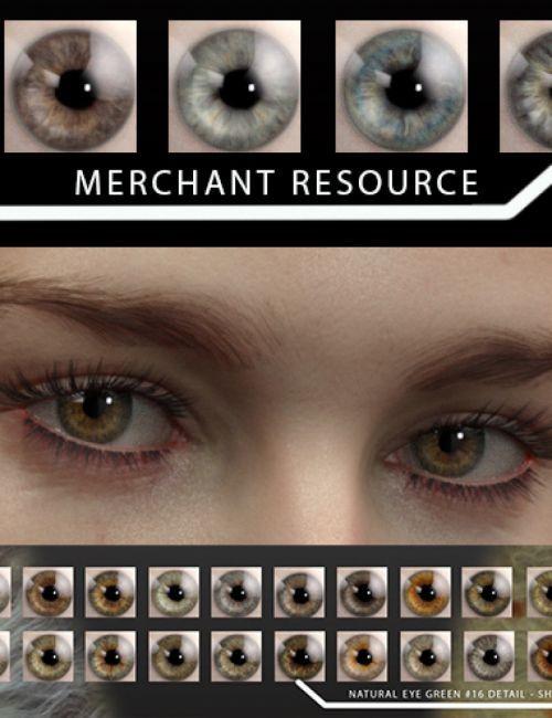 Natural Eyes for Genesis 8 | Daz Studio: Human Skin Textures and