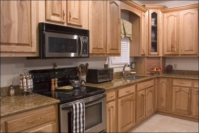 65 Best Hickory Cabinets And Images On Pinterest Hickory Cabinets Kitchen Remodeling And