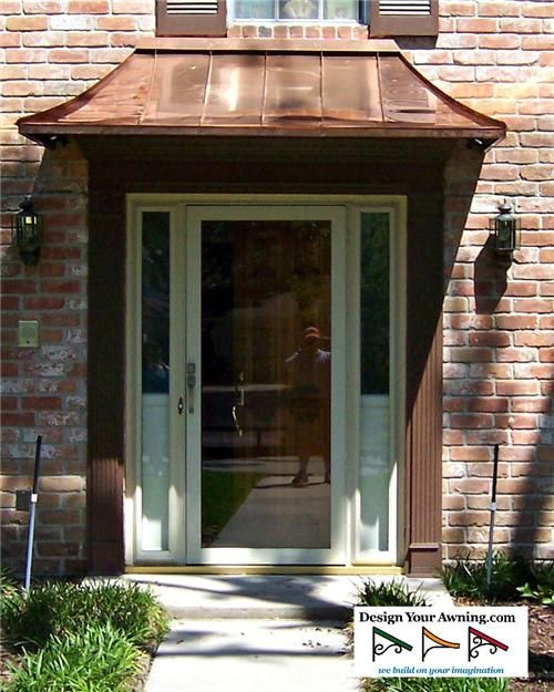 The Copper Juliet Awning Vision In 2019 Front Door