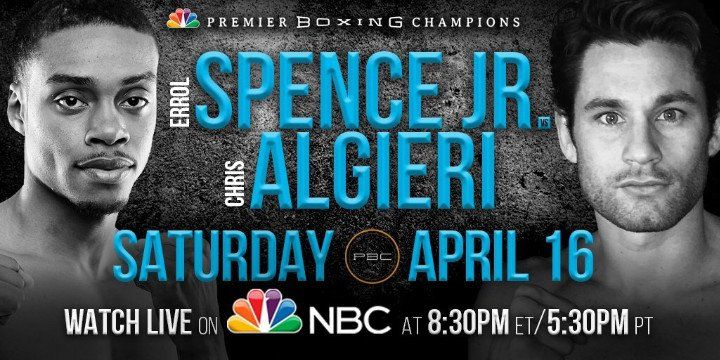 Here is Potshot Boxing's Prediction for the upcoming Errol Spence, Jr. vs. Chris Algieri. http://www.potshotboxing.com/errol-spence-jr-vs-chris-algieri-prediction/