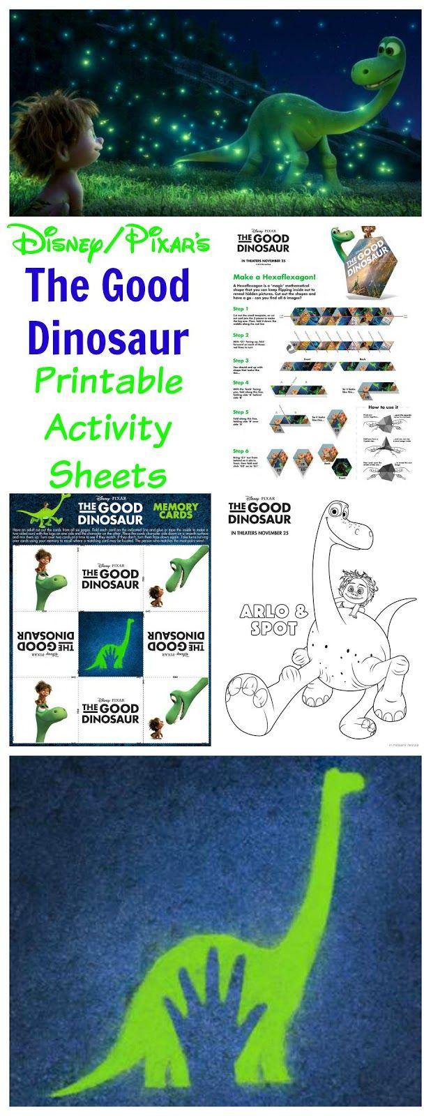 A New Dawnn: Disney/Pixar's The Good Dinosaur FREE Printable Activity Sheets