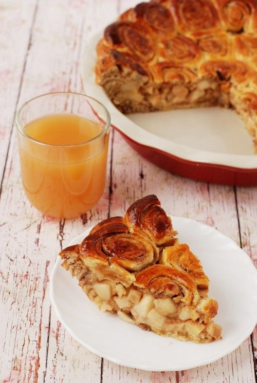Almás pite fahéjas csigával recept recept