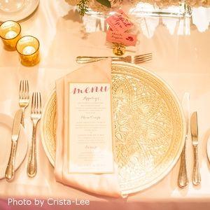 Elegant Pink Wedding Menu  by Pink Umbrella Invites. Photo by Crista-Lee Photgraphy