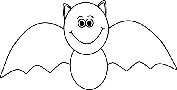 Black and White Bat Clip Art - Black and White Bat Image...great site for educational graphics