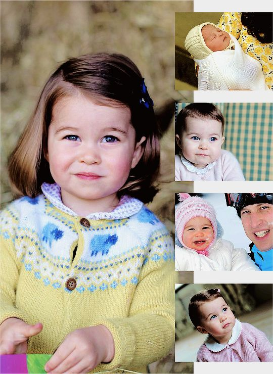 """ ♛  Happy 2nd Birthday Princess Charlotte Elizabeth Diana of Cambridge (b.May 2,2015) ♡ "" """"It's very special having a new little girl in the family. We're very, very lucky that George has got a little sister. The Queen - she was really thrilled..."
