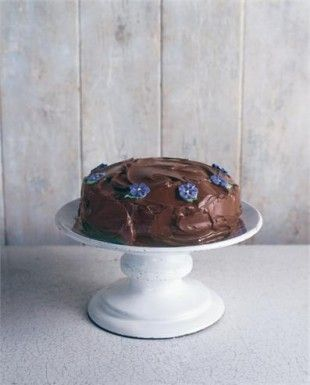 Old-Fashioned Chocolate Cake: If you're going to get started, this is the cake you should begin with. Not just because it's simple, though it is but because it is, for me, essence of chocolate cake: melting, luscious and mood-enhancingly good.