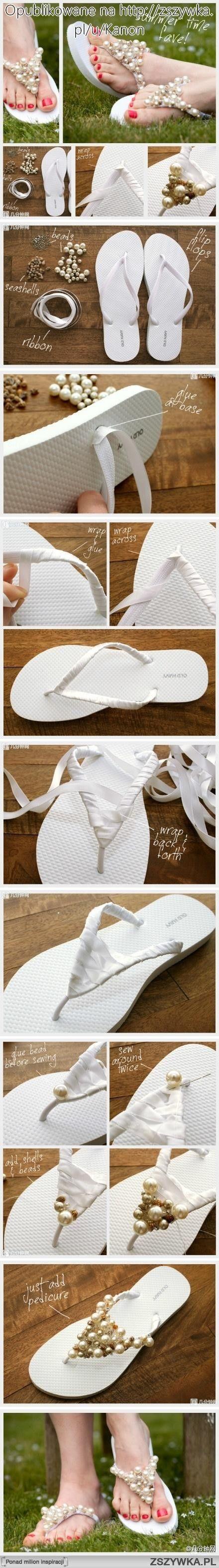 DYI Fancy Flip Flops