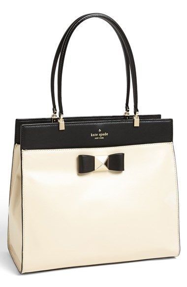Free shipping and returns on kate spade new york 'bow terrace - fulton' tote at Nordstrom.com. A bow with a pyramidal center accents a structured tote crafted from supple, buttery-soft leather. Three interior compartments keep you organized.