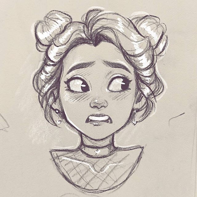 Doodled this in life drawing class (that's why…