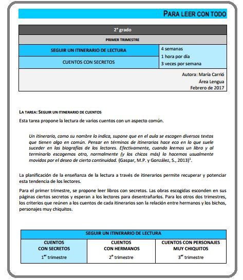 Secuencia didáctica. Prácticas del Lenguaje. Primer Ciclo. Segundo Ciclo.
