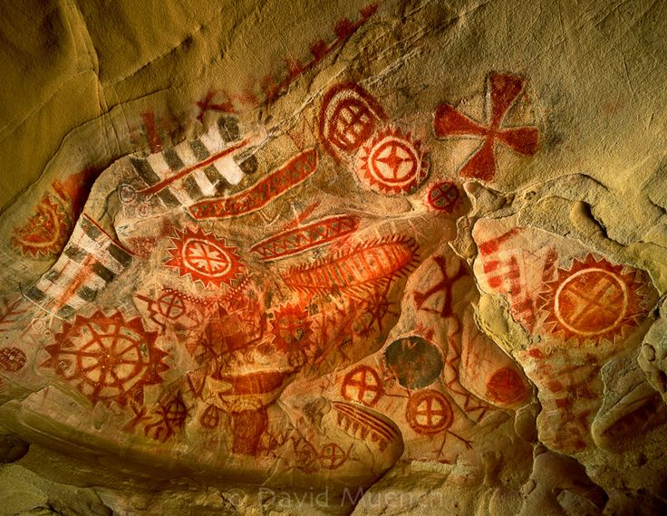 """Chumash rock art, Painted Cave, CA. Photo by David Muench. Inspiration for January's exhibit, """"Abstract Expressionism Revisited"""""""