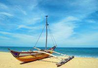 De oostkust van Sri Lanka