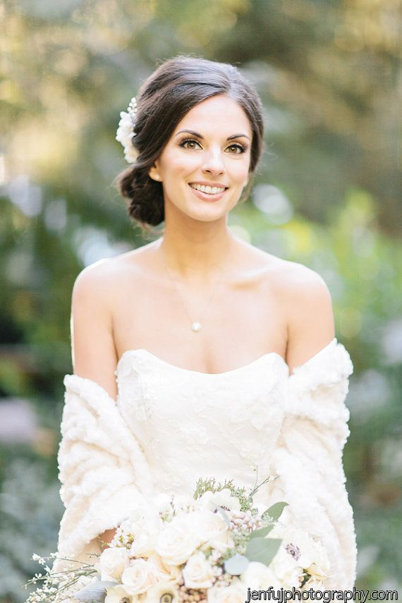 Faux Fur Bridal Cover-Up Bridal Stole Wedding by MarisolAparicio