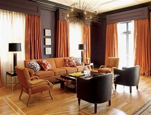 orange rooms amazing on so many levels want light fixture and curtains