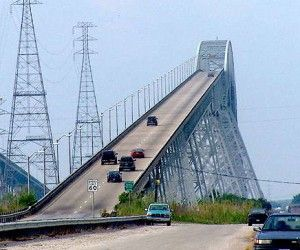 We had to drive over this bridge in order to pass drivers ed it was scary!