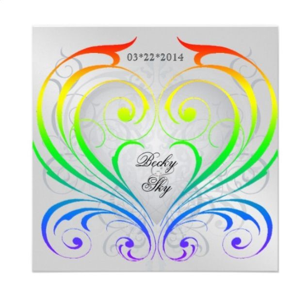 Attractive Rainbow Lesbian Wedding Invitation From Zazzle.com