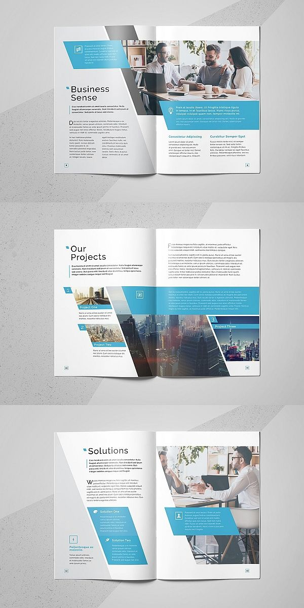 Corporate Business Brochure Template 20 Pages Business Brochure Brochure Design Template Corporate Brochure Design