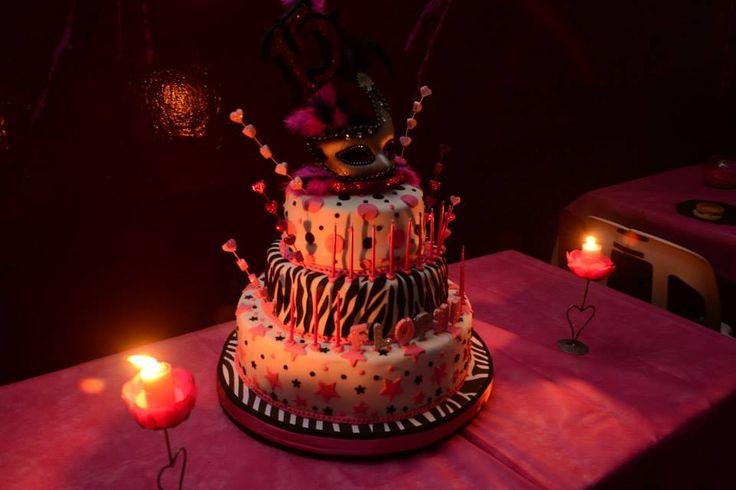 Torta de 15 años.