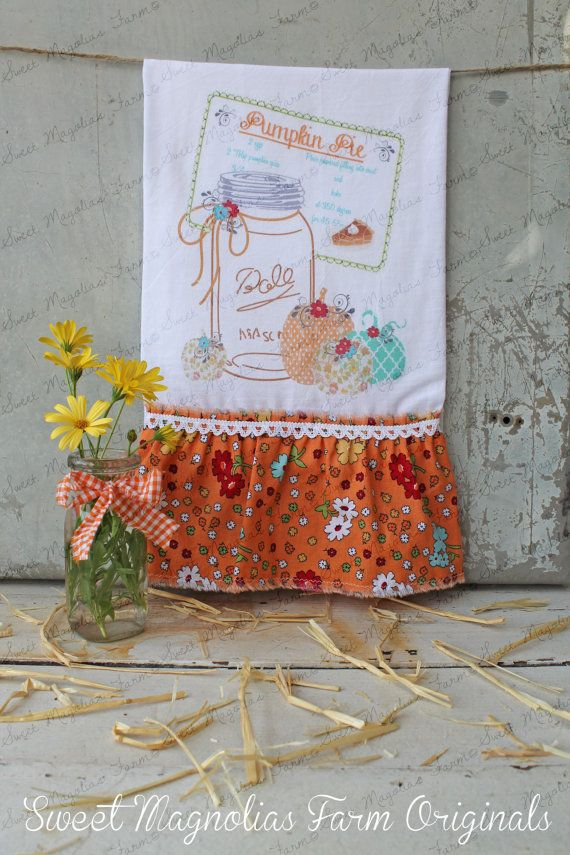 Flour Sack Kitchen Towel  Farmhouse Country by SweetMagnoliasFarm, $18.75