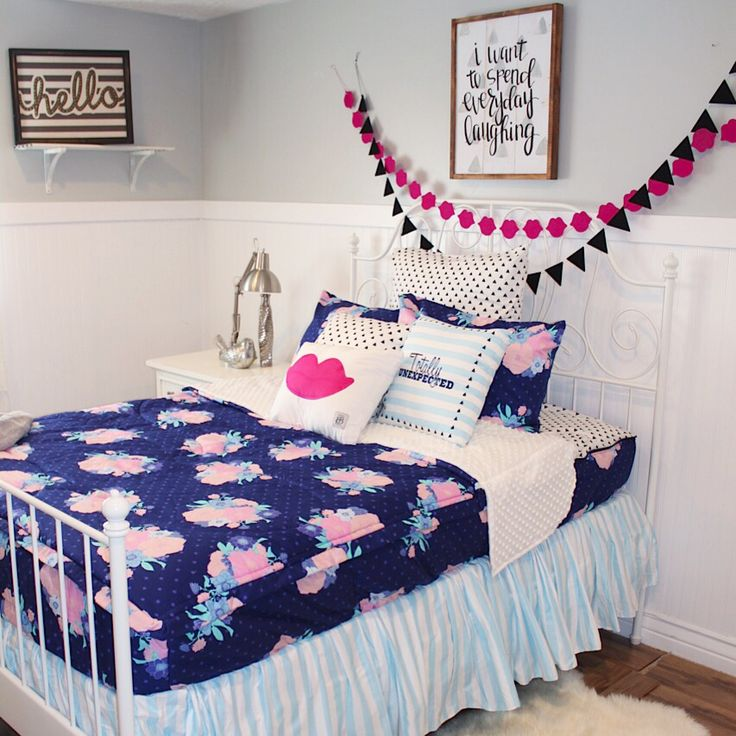 Teen Girl Zipper Bedding Girls Bedroom Ideas Bedroom