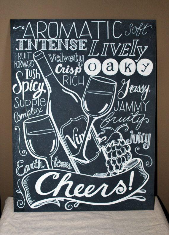 17 best ideas about chalkboard art kitchen on pinterest for Wine chalkboard art