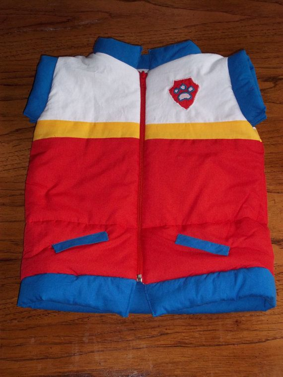 Paw Patrol is on a roll! Your little one can join the Paw Patrol in this handmade, lightly padded vest modeled after Ryders from the show. Faux