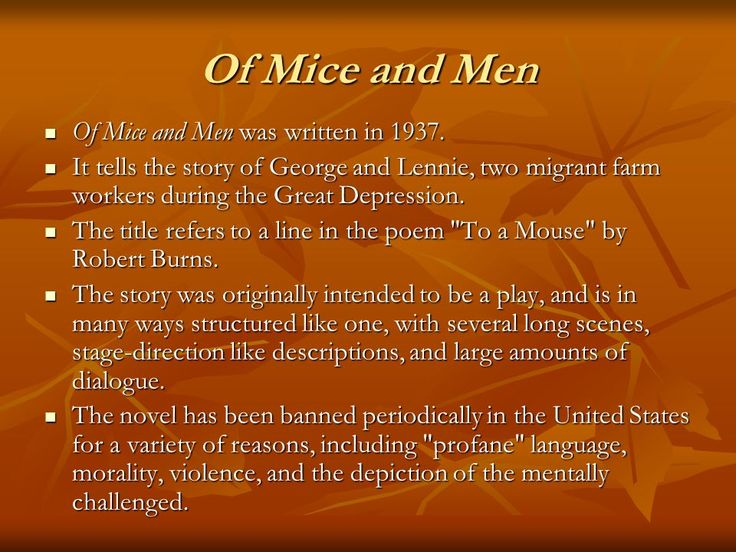 of mice and men year 10 essay Free essay: of mice and men in the beginning of the story, two men named  george milton and lennie small are trying to make their way to a small ranch in.