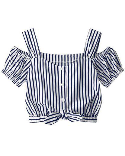 Blusa rayas verticales con tirante-azul 11.52