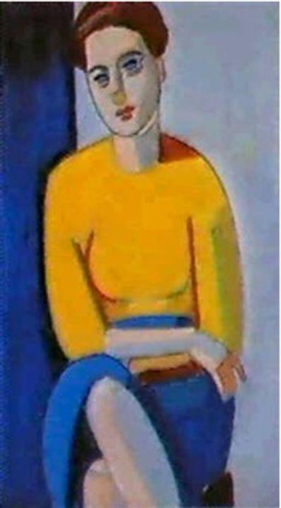 Vilhelm Lundstrøm Portrait of Signa Sommer  (Pharyah)