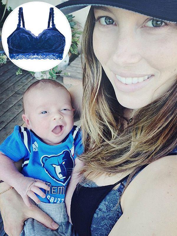 We Found It: Jessica Biel's Lace Nursing Bra http://celebritybabies.people.com/2015/04/22/jessica-biel-nursing-bra-son-silas-photo/
