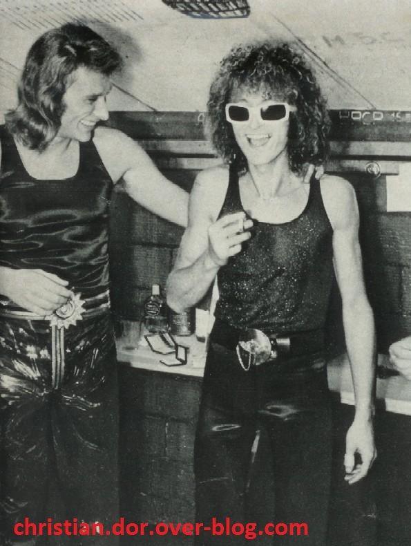 johnny hallyday et michel polnareff  palais des sports 1971